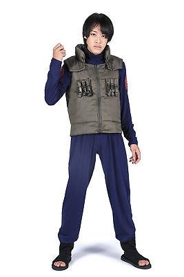Naruto Shippuden Cosplay Leaf Village Jonin Hatake Kakashi Uniform V1 - Leaf Village Kostüm