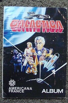 Battlestar Galactica 1978 Americana FRANCE Sticker ALBUM Trading Card vintage