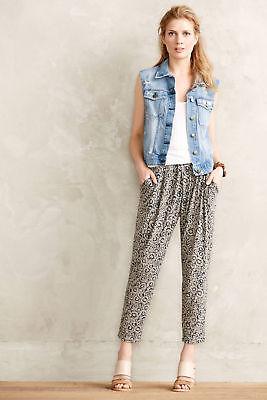 Anthropologie Joggers Stone Flower Knit Crops Casual Pants Capris, Sizes S & L Knit Pant Casual Pants