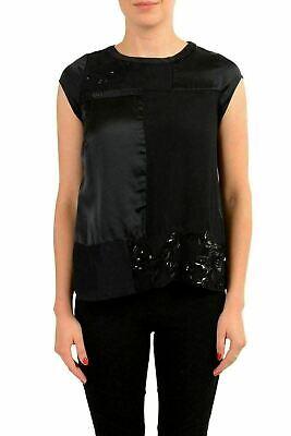 C'N'C Costume National 100% Silk Black Sleeveless Women's Blouse Top US XS IT 38](Top 100 Costumes)