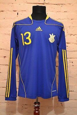 UKRAINE NATIONAL TEAM FOOTBALL SHIRT 2010/2011/2012 JERSEY TRIKOT PLAYER ISSUE image