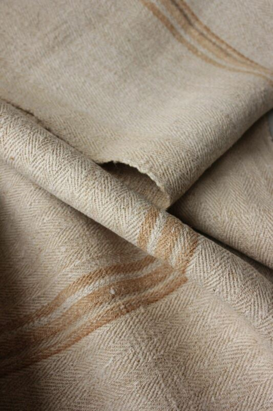 Vintage fabric homespun hemp table runner fabric 4.4 yards ~ LOVELY caramel bolt