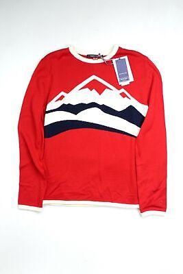 Perfect Moment Womens Merino Wool Sweater Medium Red Mountains