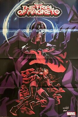 X-MEN TRIAL OF MAGNETO NEW MARVEL POSTER 3 FEET by 2 FEET SHIPS FOLDED IN 16ths
