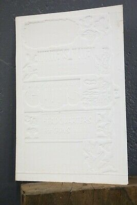 Vintage Browning Guns Hunting Ammo Store Display Sign Pattern rifle embossed old