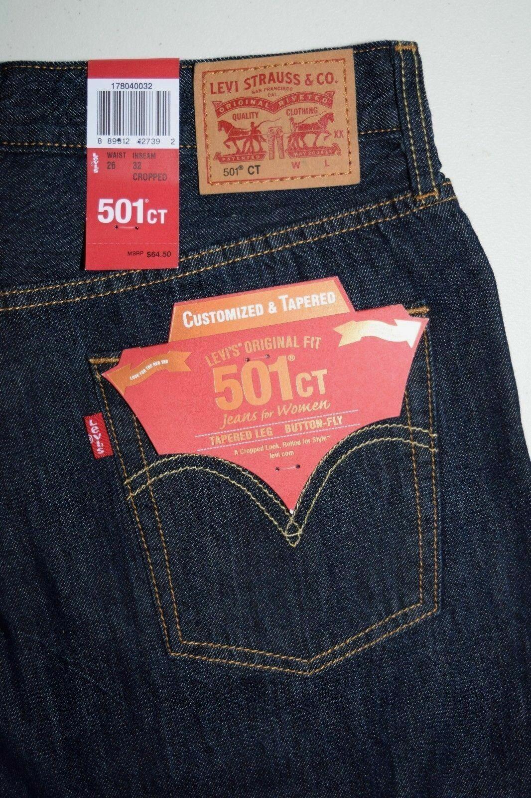 Women's Levi's 501 CT Customized Jeans