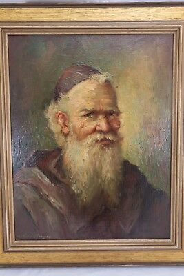 Weidinger Hans Gemälde Portrait Mönch / alter Mann mit Bart & Brille