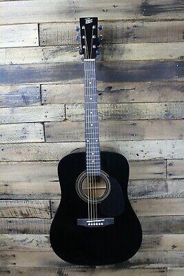 Rogue RA-090 Dreadnought Acoustic BLACK Guitar - Edge crack #R3744