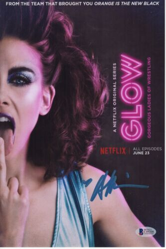 ALISON BRIE SIGNED GLOW PHOTO! 8x12 BETTY GILPIN AUTOGRAPH! NETFLIX PSA BAS COA!