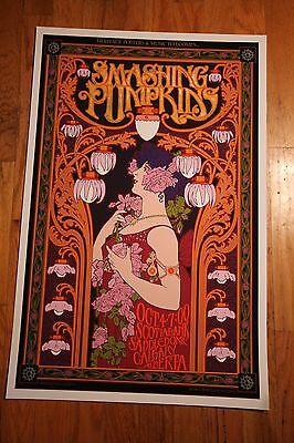 Smashing Pumpkins 2012 Steampunk  Concert Poster By 60S Art Icon Bob Masse A P