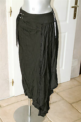 Skirt Wrap Skirt Asymmetrical Black High Use Size 38 New Label