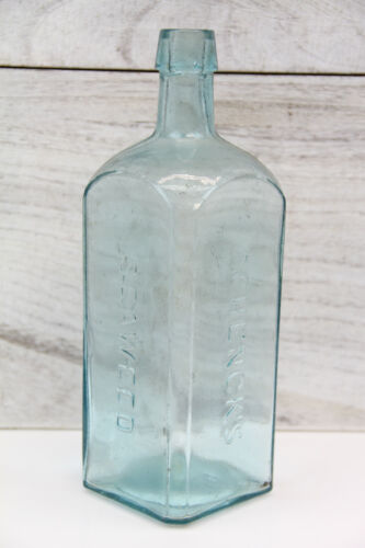 ANTIQUE EMBOSSED GLASS BOTTLE SCHENCK