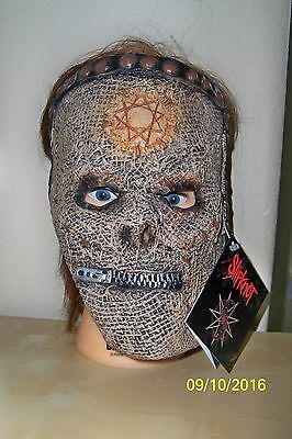 SLIPKNOT SLIP KNOT BASS LICENSED LATEX FACE MASK COSTUME RU68674 - Bass Costume