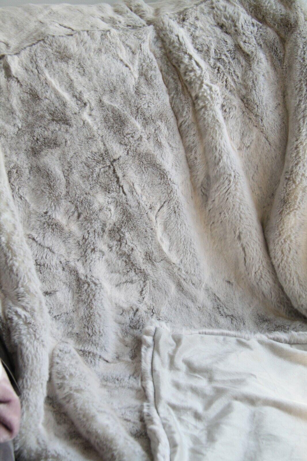 Polaris-Felldecke- Fellimitat,-in verschiedenen Größen, Kunstfell Überwurfdecke