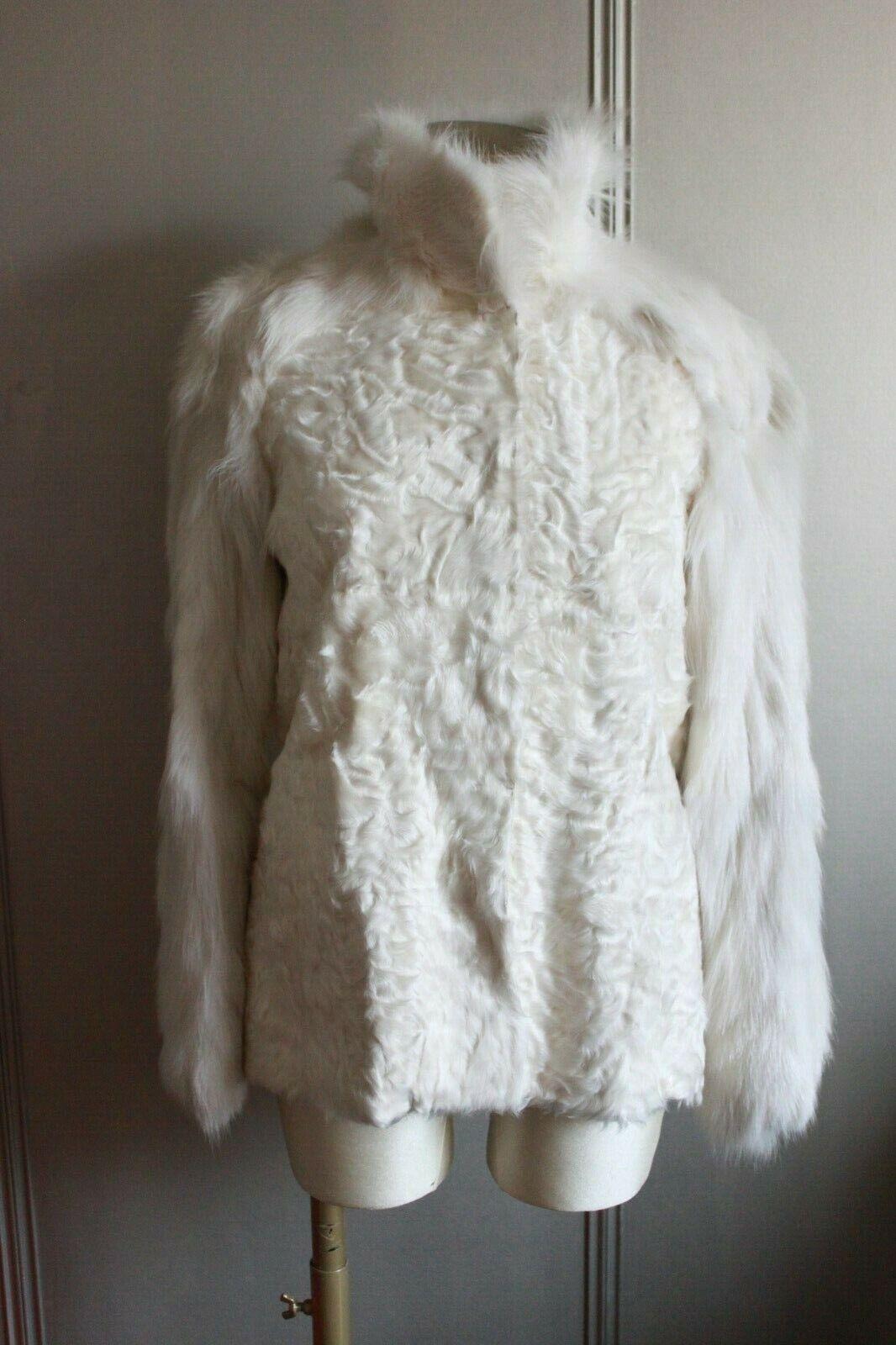 Manteau fourrure yves salomon neuf t38 / brand new fur coat yves salomon