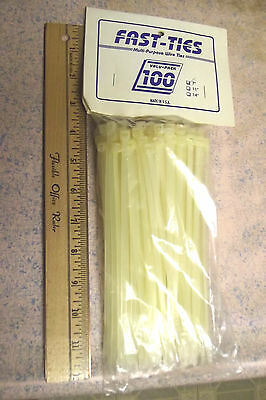 "100 NATURAL COLOR CABLE TIES,7""NET,50LBS TENSILE,TRUSTED PRODUCT,MADE IN USA.4.8"