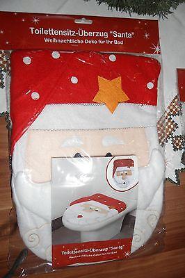 Toilettensitz Überzug Santa Claus Weihnachtsmann in 3D Optik