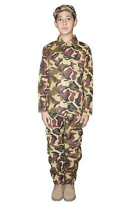 Best Children Boys Army Camouflage Costume Book Week Soldier Fancy Dress UK