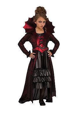 Girls Victorian Vampire Costume Dress Gothic Halloween Kids Size Medium 8-10 - Girl Vampire Costume