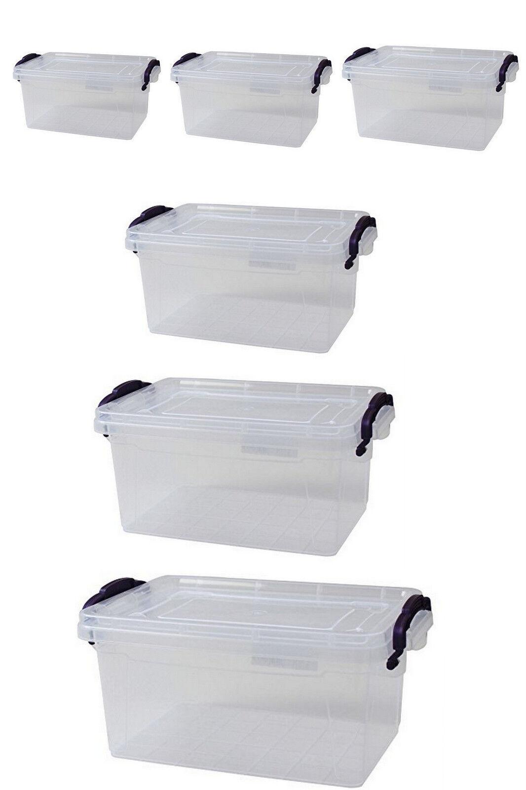 Aufbewahrungsbox mit Deckel Tragegriff Aufbewahrungskiste stapelbar Stapelkiste
