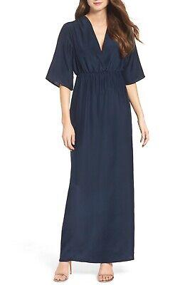 NATALIE DEAYALA Collection Flutter Sleeve Silk Gown- XL $395 NWOT Sleeve Silk Gown
