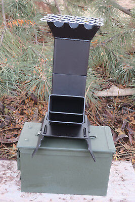 Shadrach V2 Portable Rocket Stove with a New 50 cal. Ammo can New Larger Design for sale  Kuna