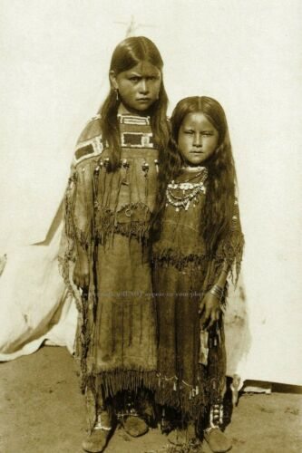 Comanche Chief Quanah Parker Daughters PHOTO Native American Indian 1891