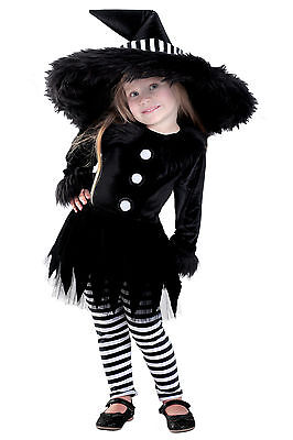 Sweet Stripes Witch Costume Chasing Fireflies Baby 6 9 12 18 24 months 2T 3T 3 4 - Baby Girl Witch Costumes