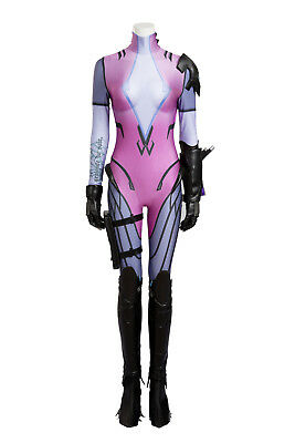 Overwatch D.VA Black Lily Cosplay Costume Halloween Full Size Suit Masquerade  - Lily Halloween Costume