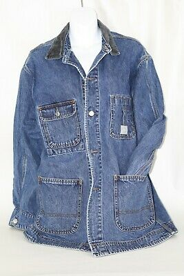 Vintage Polo Country Ralph Lauren Denim Jean Chore Jacket Size M Made in USA