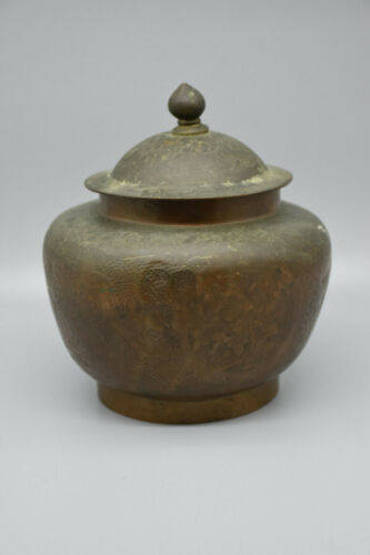 RARE Antique Chinese Export Etched Dragon Urn from the late-1800
