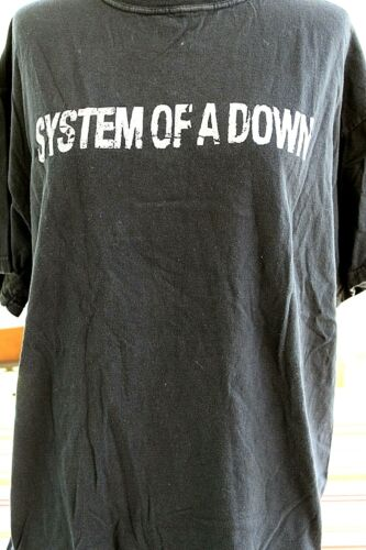 System Of A Down Graphic T-Shirt L Large Black Hypnotize Band Concert T-Shirt