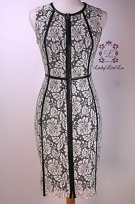 Calvin Klein Womens Lace Black White Sheath Dress Cd6l1921 Size 4 6 8 12 14 Nwt