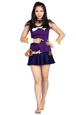 Fairy Tail Cosplay Costume Blondie Princess Heartfilia Lucy Outfit Set (Blondie Cosplay Kostüm)