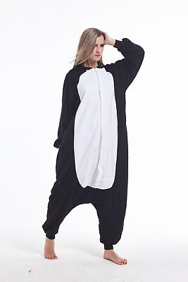 Women Men Adult Kigurumi Pajama Halloween Animal Cosplay Costume Penguin Onesie0