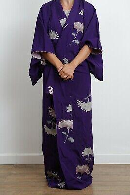 Authentic traditional vintage Japanese urushi silk kimono