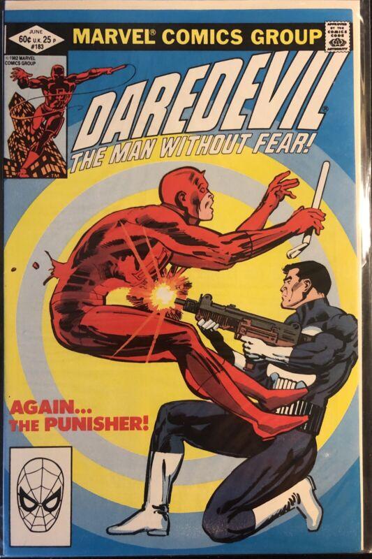 DAREDEVIL #183 MARVEL COMICS 1982 PUNISHER FRANK MILLER