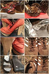 Shoes/heels and wedges for sale like new