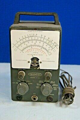 Vintage Heathkit Vacuum Tube Voltmeter Model V-7 Weston Untested No Probes