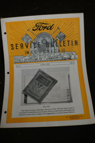 1936 Ford Service Bulletin MECHANICAL