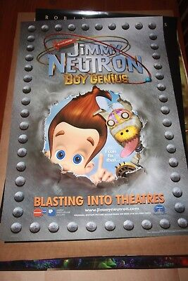 Original Movie Poster Jimmy Neutron Boy Genius Intl Teaser Ds 1Sh 2001