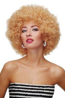 Perücke Afroperücke Afro 70er Jahre Party Funky Disco Foxy Goldblond PW0011-P70
