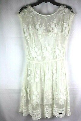 ABERCROMBIE &FITCH WOMEN'S LACE DRESS SIZE LARGE USED IN EXCELLENT CONDITION