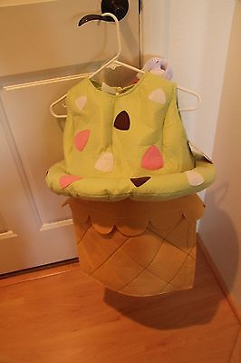 Teen Twin Costumes (NWT Pottery Barn Kids Ice Cream Costume Size 7-8 & Matching)
