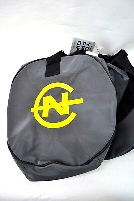 NAUTICA Grey Yellow End Zone Competition Duffel Bag 21