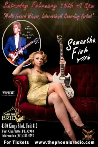 SAMANTHA FISH 2020 FT. MYERS, FLORIDA CONCERT TOUR POSTER- Blues, Roots Rock