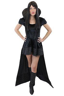 stüm Kleid Böse Königin Hexe Vampirin Gothic Märchen L008 (Vampirin Kostüm)