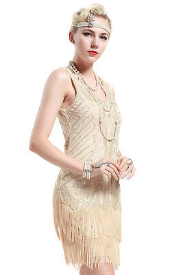 BABEYOND Womens Flapper Dresses 1920s V Neck Beaded Fringed Great Gatsby Dress](Great Gatsby Clothes For Women)