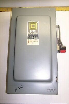 Square D 100 Amp Fused Safety Switch 600 Vac 75 Hp Type 1 Indoor H-363