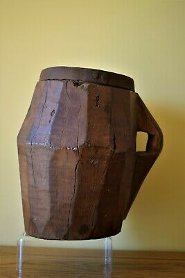 Antique Wooden Grinding Pot - Eastern Turkey